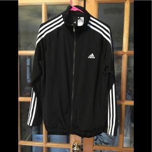 Black adidas track jacket new with tags